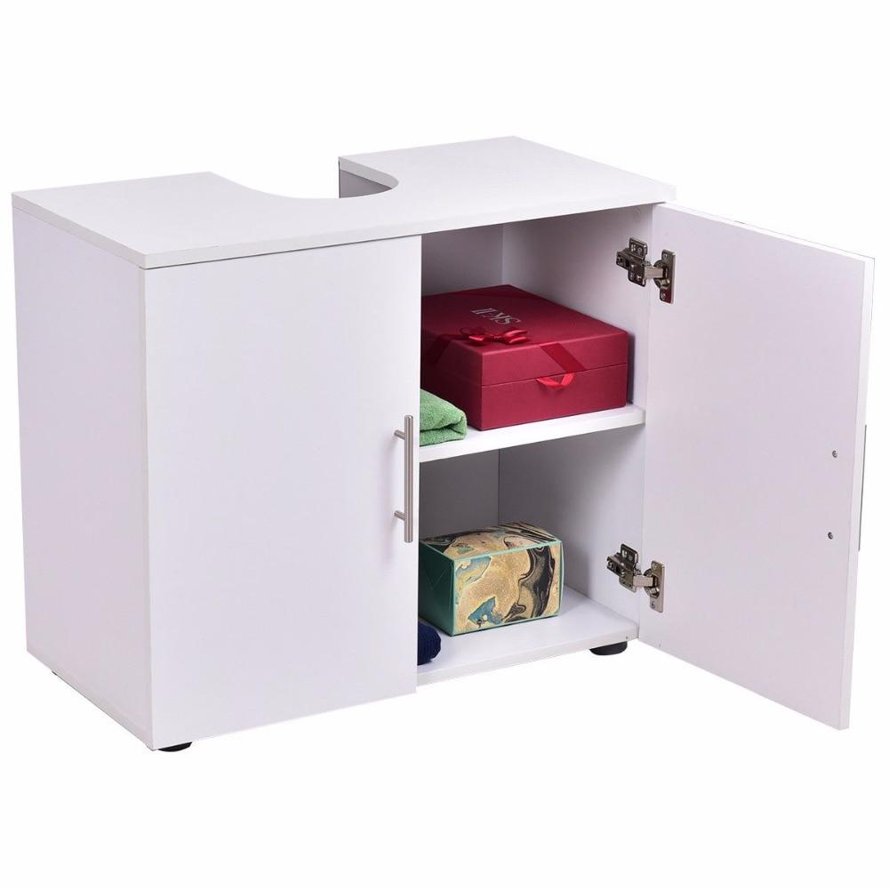 Giantex Non Pedestal Under Sink Bathroom Storage Vanity Cabinet ...