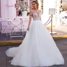Liyuke 2019 Married Wedding Dress Beading Long Sleeves