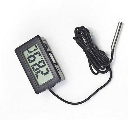 LCD Digital  Mini Thermometer Temperature Sensor Fridge Freezer Probe 40%off center 307 temperature thermometer with digital mini compact size
