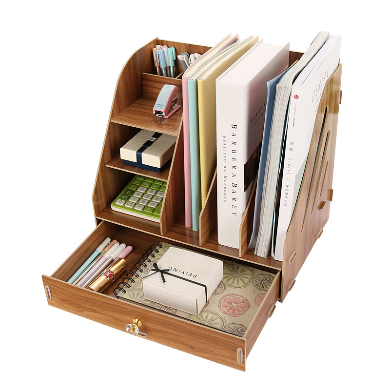 цена на Desk Drawer Organizer Office Stationery Paper Holders Stationery Organizer Storage Box