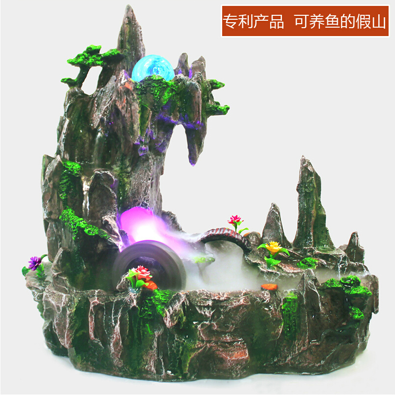Rockery water fountain decoration aquarium crafts bonsai feng shui wheel wedding gifts - KEOB store