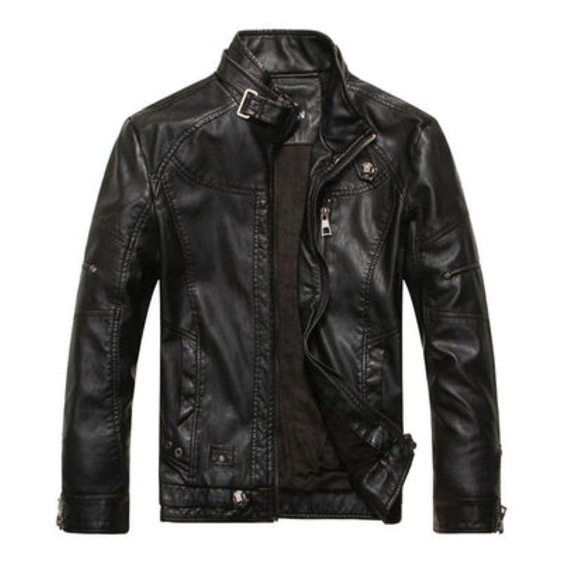 2017 New Men Brand Leather Jacket Men Winter Coat Fashion Europe Style Stand Collar Men Zipper Motorcycle Jacket Men Outerwear plus size christmas santa claus snowman hoodie