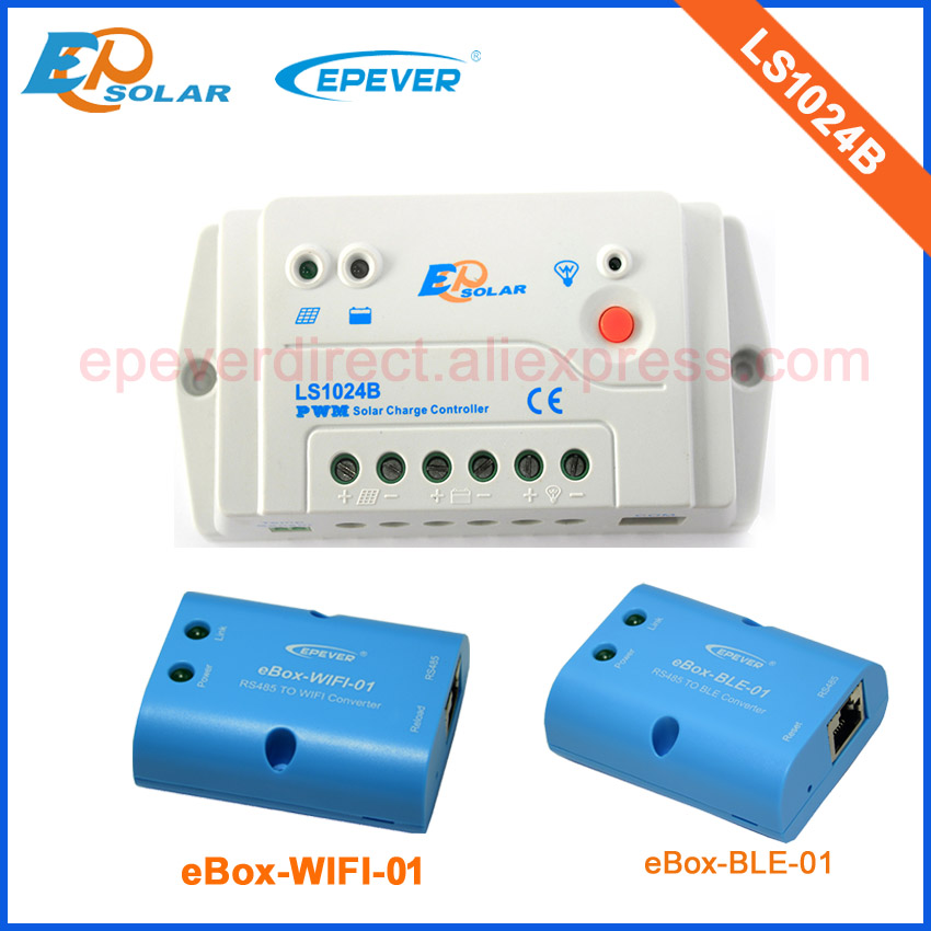 with both BLE and wifi box in great price for LS1024B PWM solar controller 12v 24v work 10A 10amp with wifi function use epsolar pwm ls1024b 10a 10amp solar controller temperature senor 12v 24v auto work