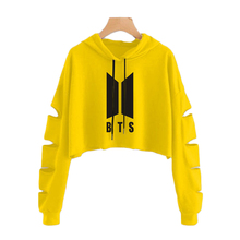 BTS Ripped Crop Top Hoodies (33 Models)