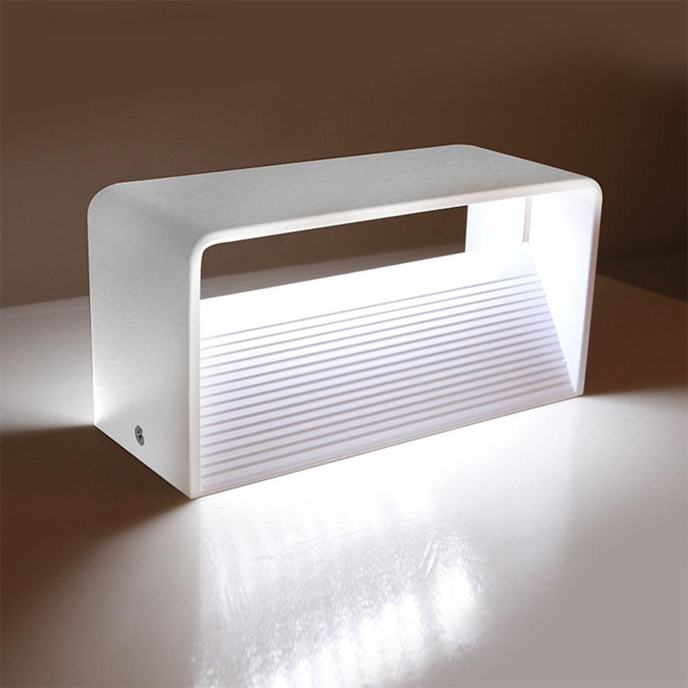 Rectangular Led Wall Lamp Aluminum Loft Home Lighting LED Bedroom Bedside Reading Lamp Acrylic Light все цены