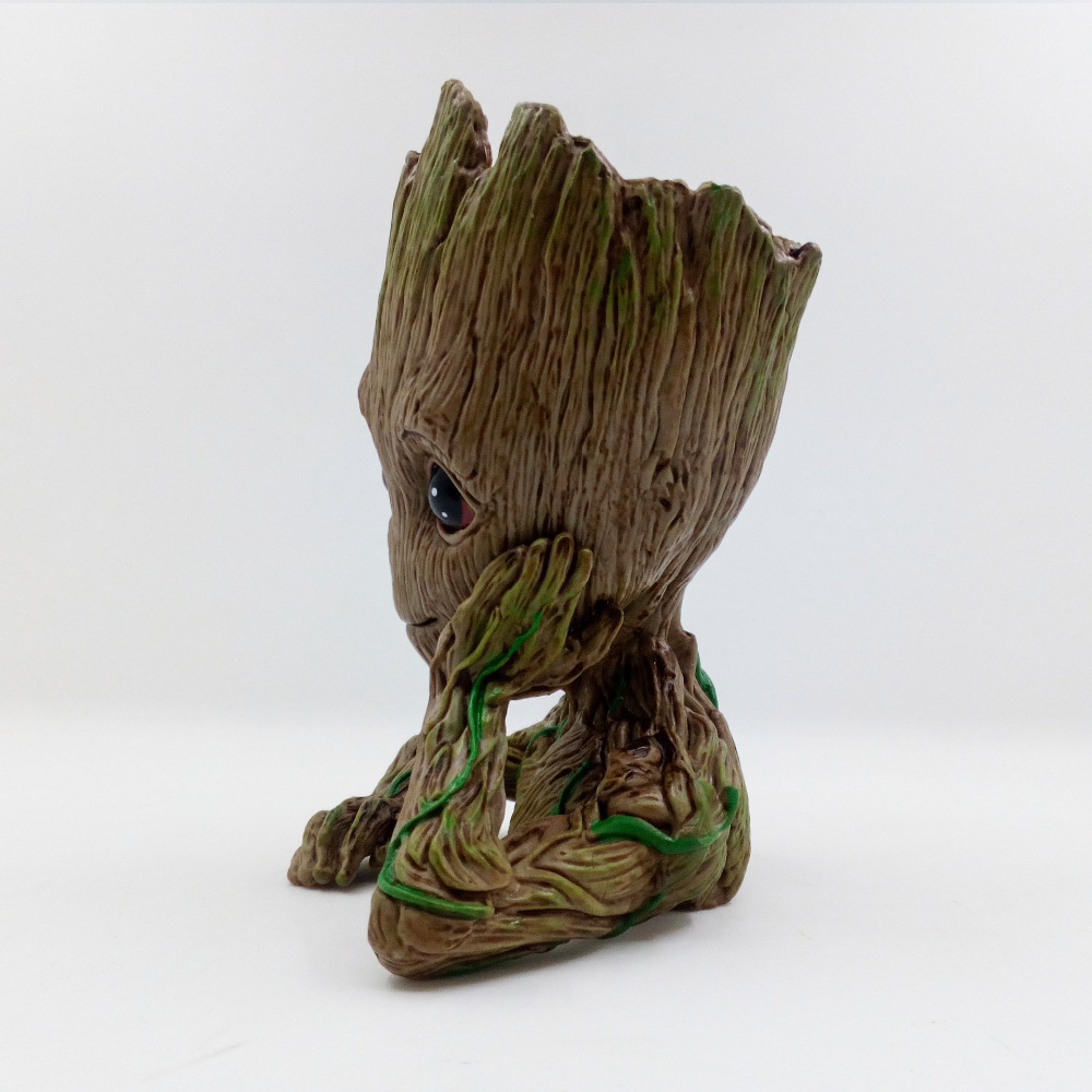 Guardians of The Galaxy Flowerpot Baby Action Figures Cute Model Toy Pen Pot Best Christmas Gifts For Kids Home Decoration  1