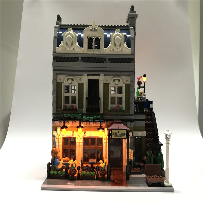 Led Light Up Kit For Lego Building City Street 10243 Parisian Restaurant House Toy Compatible 15010 Blocks Creator City Lighting a toy a dream lepin 15008 2462pcs city street creator green grocer model building kits blocks bricks compatible 10185