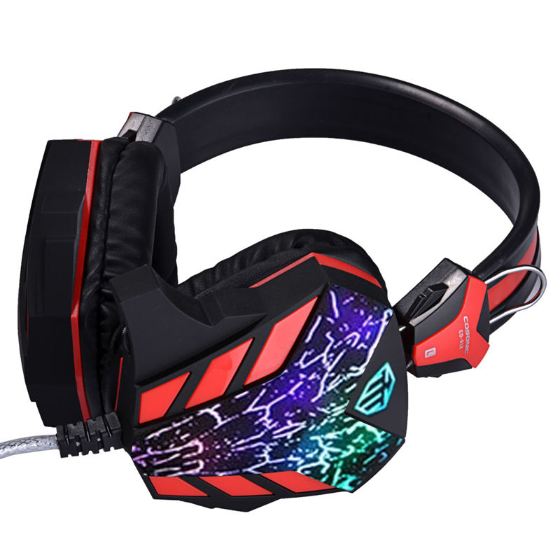 Cosonic CD-618 Crack Version Gaming Headphone Game Headset Stereo Bass Noise Canceling Isolating with Microphone for PC g1100 3 5mm pro gaming headset headphone for ps4 laptop crack pattern led led blue black red white