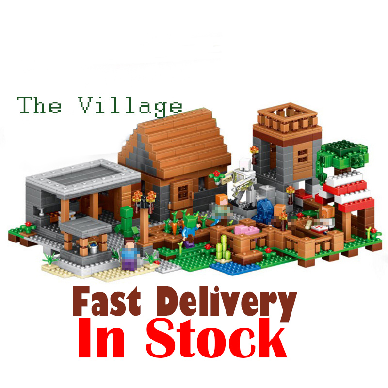 Lepin 1125pcs My World The Village Minecraft action anime figures Building Blocks Bricks toys for children gift compatible 21128 lepin 18010 my world 1106pcs compatible building block my village bricks diy enlighten brinquedos birthday gift toys kids 21128