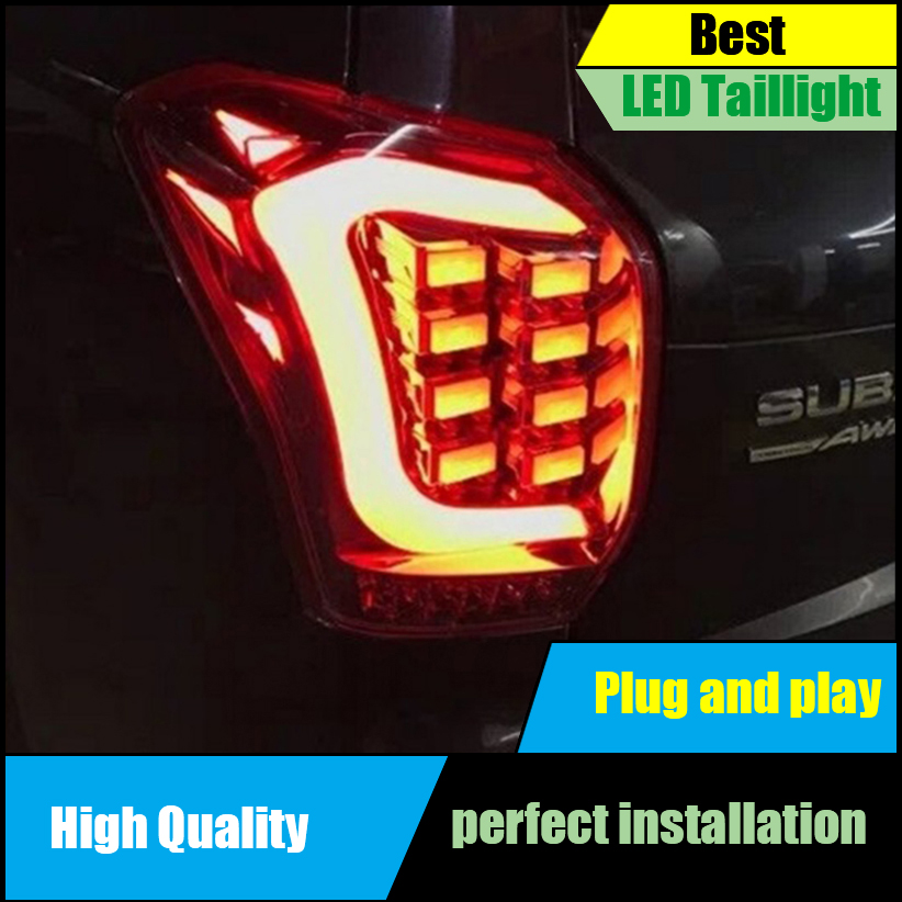 Car Styling Tail Lamps for Subaru Forester Tail Lights 2013 2014 2015 LED Taillight Rear Lamp Driving+Brake+Park+Signal