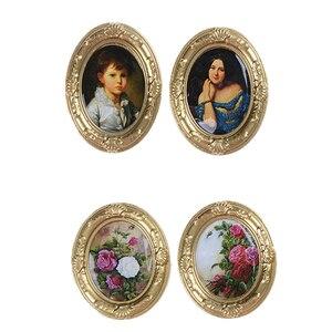 Image 1 - Mini cadre rétro peinture murale, meubles, 1:12, maison de poupée, accessoire Miniature, jeux classiques