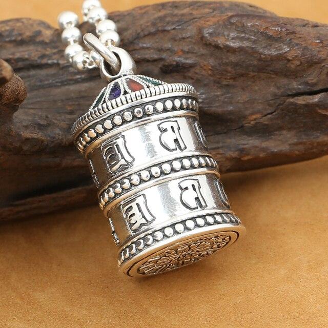 Handmade om ghau 925 silver tibetan om gau box pendant vintage handmade om ghau 925 silver tibetan om gau box pendant vintage sterling silver buddhist prayer box aloadofball Gallery