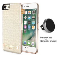 RCN Luxury Texture Battery Case Charger For IPhone 6 6S 7 Plus 7500mAh Power Bank Backup