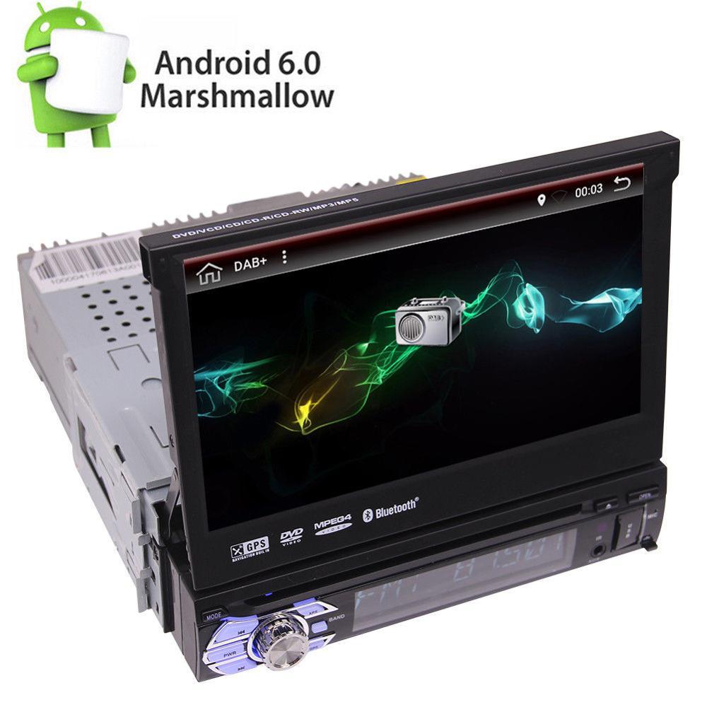 7 одной Din Android 6,0 Автомобильный DVD/CD-плеер с DAB + Радио съемная стерео gps 3g 1 din автомобиль Радио Стерео в тире автомагнитол