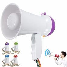 Портативный складной ручной МегаФон громкий динамик усилитель рекордер Bullhorn