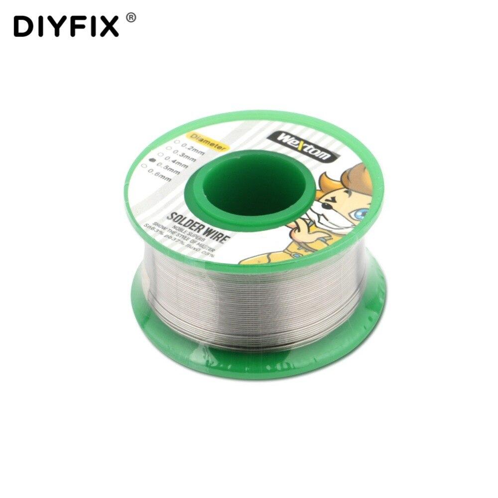 DIYFIX 0.5mm Solder Wire 63/37 Flux 0.05% Tin Lead Solder Wire Soldering Welding Flux Tin Wire Reel Spool Soldering Supplies