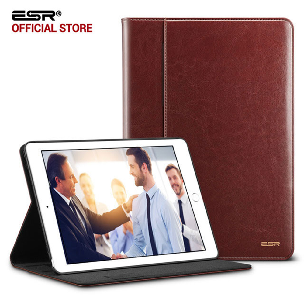 Case untuk iPad Pro 10.5, ESR Premium PU Leather Business Folio Berdiri Pocket Auto Wake Smart Cover case untuk iPad Pro 10.5 inci