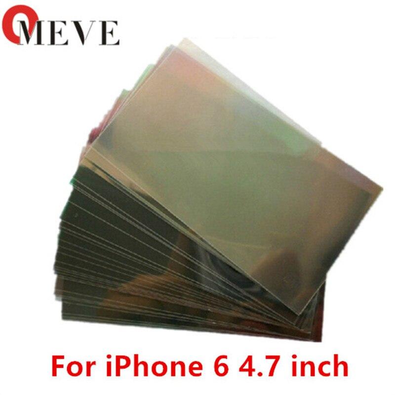 bilder für 100 stücke/lotNew Ankunft Premium LCD Polarisator Film Polarisation Polarisiertes Licht Film für iPhone 6 6G 7 7 plus 4,7 inch