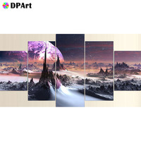 Diamond Painting 5D Full Square/ Round Drill Moonscape Star 3d Daimond Mosaic Rhinestone Embroidery Crystal Cross Stitch M518