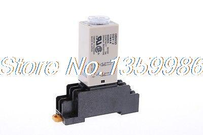 цена на 10 set base + time timer relay 8pin H3Y-2 H3Y AC110V 5A 0.5min-10min 10min