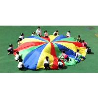 5M Rainbow Umbrella Parachute Development Outdoor Toys Sport Games Jump sack Ballute Play Parachute Outdoor Indoor Sport Toys