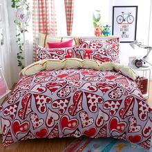 Home Textiles love language style bedding sets 3 4Pcs of duvet cover bed sheet pillowcase King