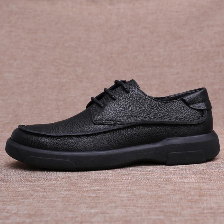 Épais Fond Hommes En De Hiver Noir Nouveau Chaud Chaussures Cuir D'affaires Loisirs Avec ARjL54q3