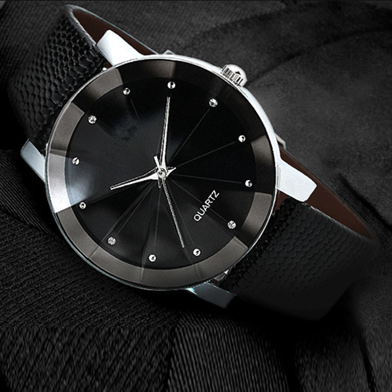 2016 Women Men Quartz Watch Simple Casual Fashion Watches PU Leather Strap Watch Wristwatch Gifts TT@88