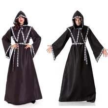 Хэллоуин средневековая готика костюм ведьмы платье с капюшоном