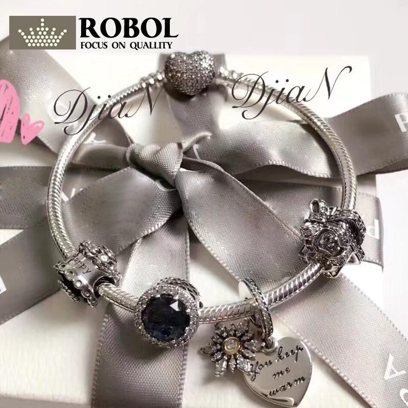 цена на Original 925 Silver Charm Series Bead High quality fashion women charm Lady Jewelry Gift Fashion Pando 1:1 With Logo Bracelet