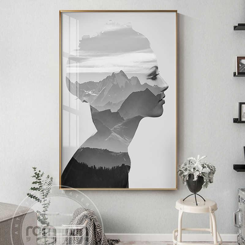Home decor art prints posters vintage woman photography beauty fashion bedroom