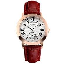 Las señoras Del Reloj Del Número Romano Dial Reloj Mujer Vestido Reloj Nuevo Diseñador Mujeres Reloj de Cuero Genuino reloj de Cuarzo Relogio Xfcs