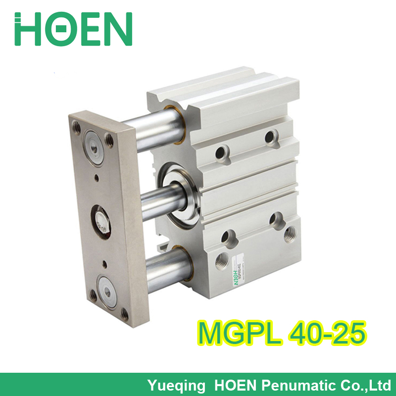 MGPL40*25 Three Shafts Guided Air Cylinder Heavy Duty Compact Cylinder Pneumatic Cylinder With Guiding Rod mgpl40-25 mgpm63 200 smc thin three axis cylinder with rod air cylinder pneumatic air tools mgpm series mgpm 63 200 63 200 63x200 model