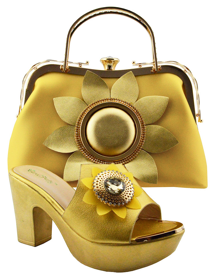Fashion Italian Design African Shoes and Bags Matching Set Nigeria Style Women's Shoe and Bag to Match for Wedding Party QSL003 doershow italian shoes with matching bags nigeria wedding shoes and bag to match stones african shoe and bag set for lady kh1 14