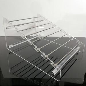 Image 4 - Прозрачная вращающаяся Европейская Подвеска для бусин, держатель для дисплея, браслет, серьги подвески, ювелирные изделия, витрина Shlef подвесной Органайзер