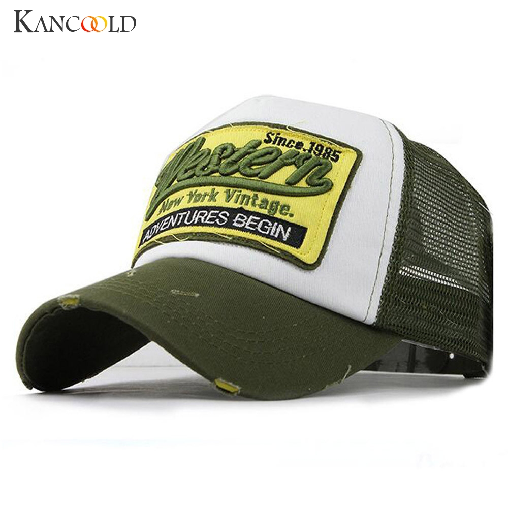 KANCOOLD Hat Men Women Embroidered Summer Cap Mesh Hats For Casual Hip Hop Baseball High Quality Casual Hat Men 2018NOV16