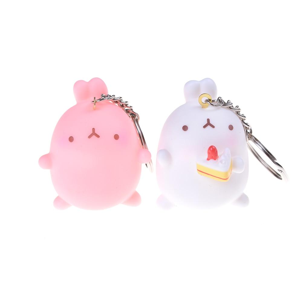 1Pc Figure Keychain Pendants Rabbit Toys Dolls key ring figure toys Kids chidren baby Toy