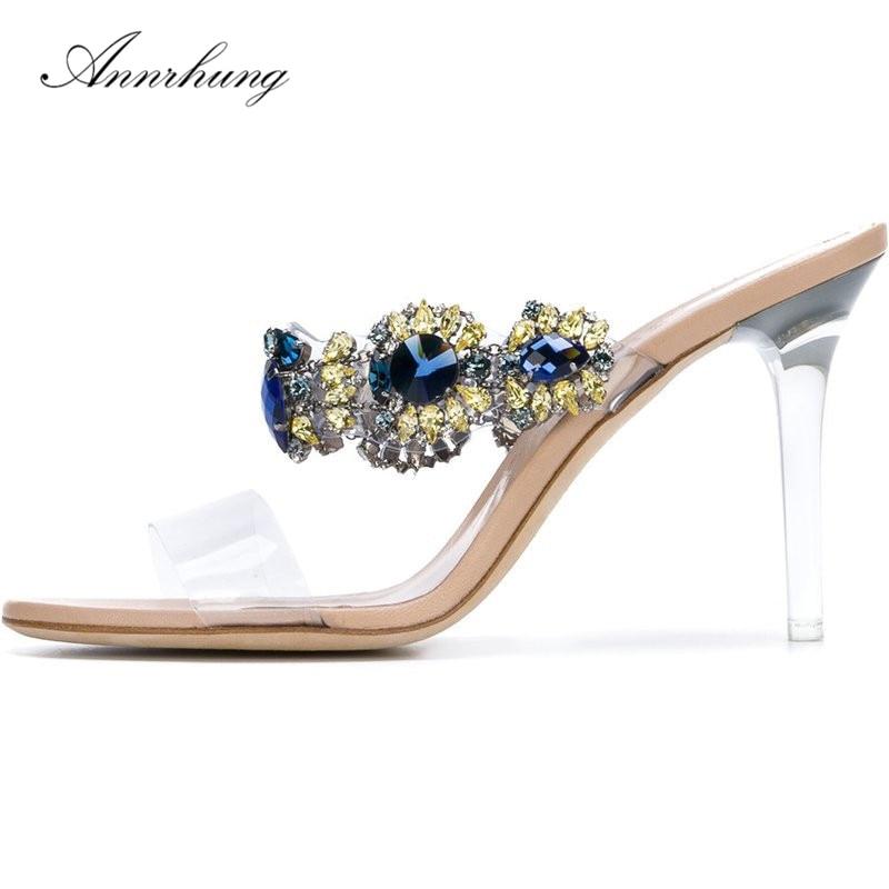 ae8d5c4551b Hot Wedding Shoes Women Sandals Clear Tenacity PVC High Heel 15CM ...