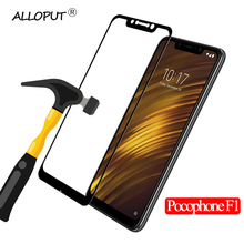 Premium Full Screen Protector for Xiaomi Pocophone F1 Cover Tempered Glass Black Front Film