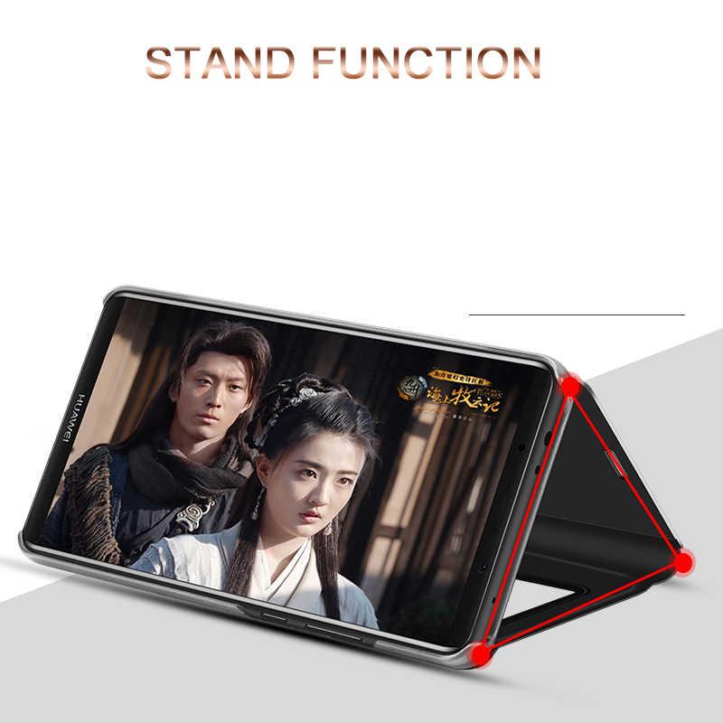 Умный кожаный флип зеркало заднего вида чехол для samsung Galaxy S10 S8 S9 плюс S7 S6 Edge Note 8 9 Galaxy A60 A80 A90 A40 A50