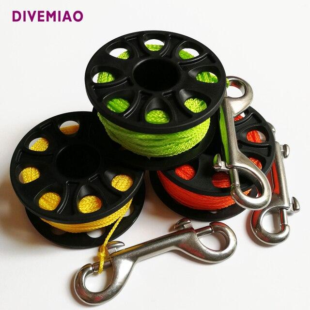 DIVEMIAO équipement de plongée bobine de plongée bobine de doigt 30 M cordes avec SS double extrémité snap