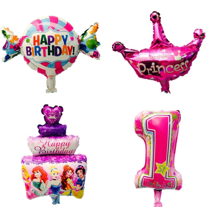 Mini kids birthday foil balloons party decorations candy