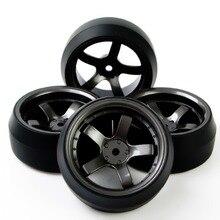 4pcs/set 12mm KForce Racing RC Flat Drift Tires with Rim