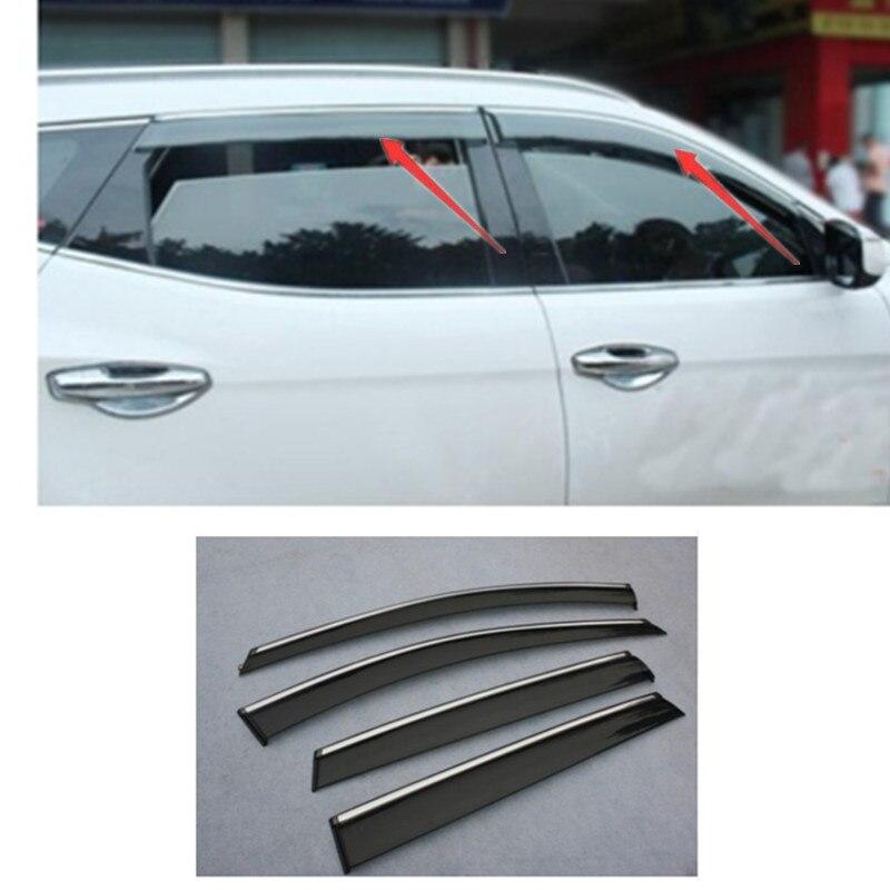 For Hyundai Genesis Coupe 2013-2016 Window Visors Sun Rain Guard Vent Deflectors