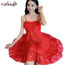 Fdfklak 2019 Sexy Temptation Nightgowns Women Sleeveless Night Sleepwear Dress Summer Nightgown Ladies Nightshirts 4 Styles E898