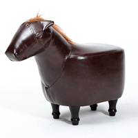 Solid Wood Sofa Stool Horse Sitting Pier Original Furniture Creative Design Hall Clothing Store Shoes Stool