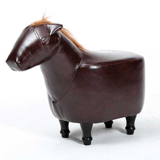 Puf Poire taburetes sofá de madera maciza taburete caballo sentado ...