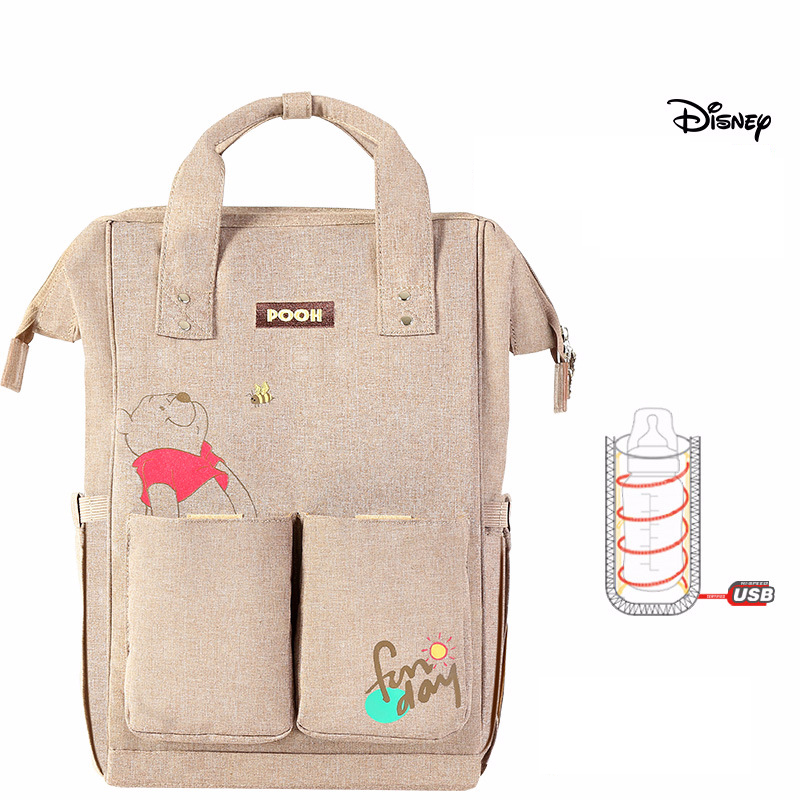 Disney-Mummy-Bag-Multifunction-Large-Capacity-Double-Shoulder-Travel-Backpack-Baby-Handbag-Bottle-Bag-Fashion-Insulation (4)