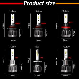 Image 5 - Roadsun 6000K H4 LED H7 H1 HB4 H11 HB3 CSP 칩 자동차 헤드 라이트 전구 72W 12000LM 자동차 스타일링 9005 9006 led automotivo