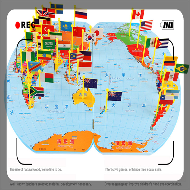 Wooden world map flag matching puzzle geography educational toy gift wooden world map flag matching puzzle geography educational toy gift for kids in puzzles from toys hobbies on aliexpress alibaba group gumiabroncs Images